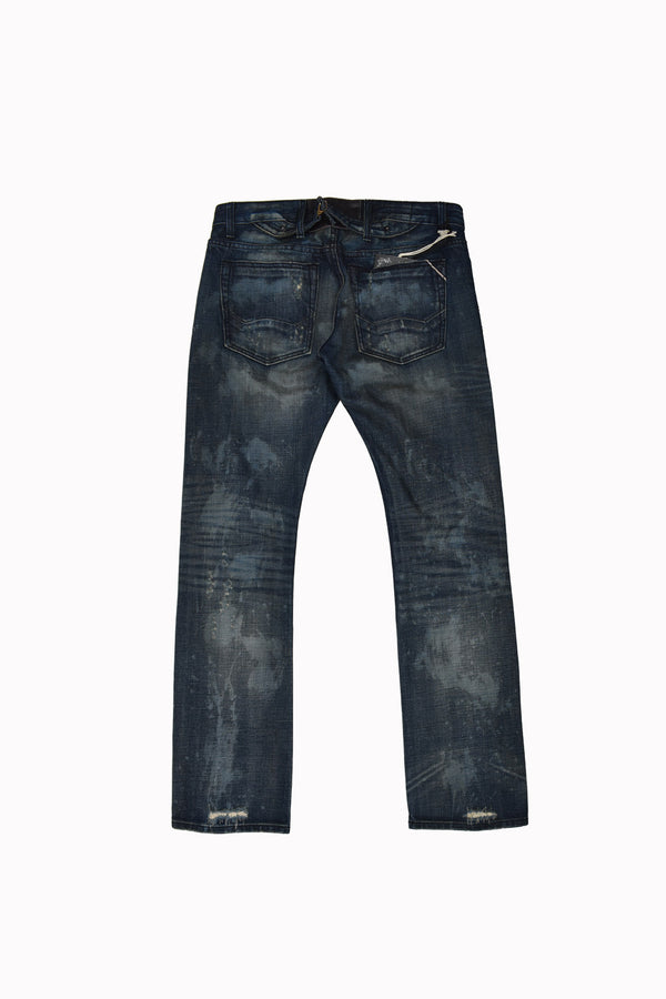 Cult of Individuality Dark Denim Jeans 658-15B-501A-WH - Georgios Clothing Store