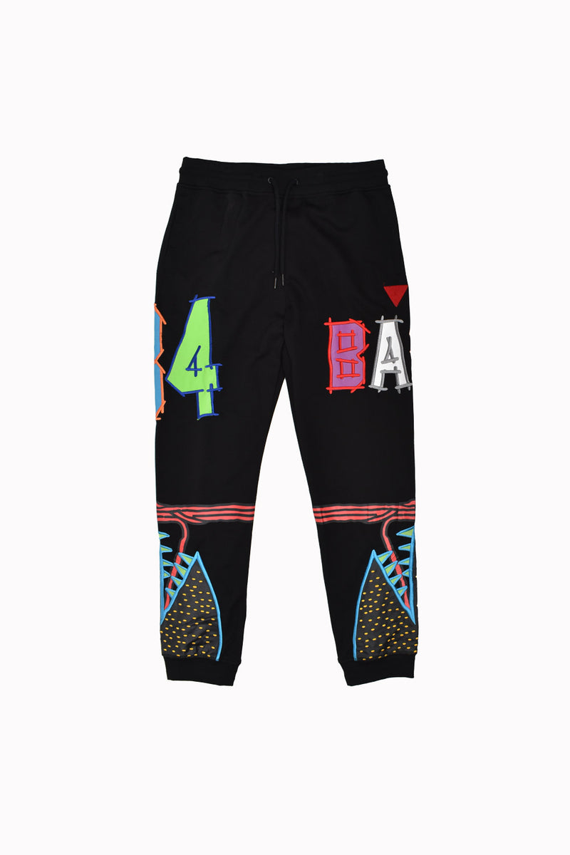 Bass Graphic Sweatpants RB6026-WH