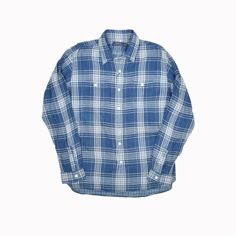 Polo Ralph Lauren Long Sleeve Button Down Flannel 710535902001-WH