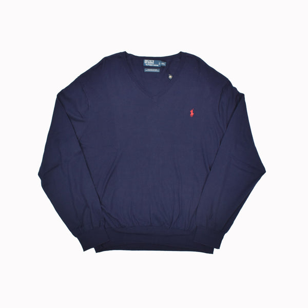 Polo Ralph Lauren V-Neck Sweater 0187132FZ-WH - Georgios Clothing Store