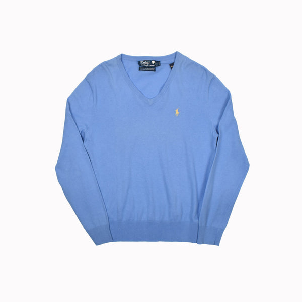 Polo Ralph Lauren V-Neck Sweater 0113620FZ-WH - Georgios Clothing Store