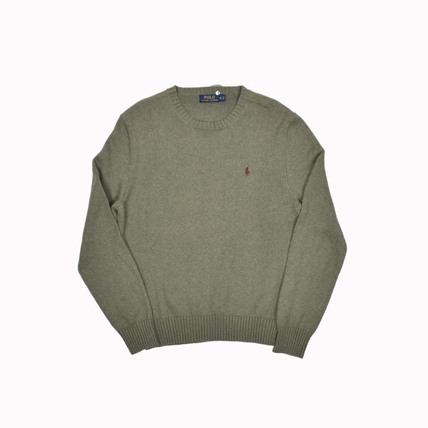 Polo Ralph Lauren Crew Neck Sweater 0187182GH-WH - Georgios Clothing Store