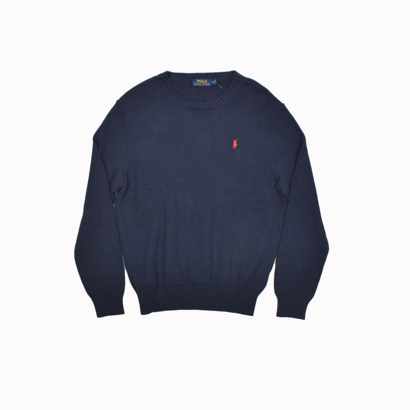 Polo Ralph Lauren Crew Neck Sweater 0186174GH-WH - Georgios Clothing Store