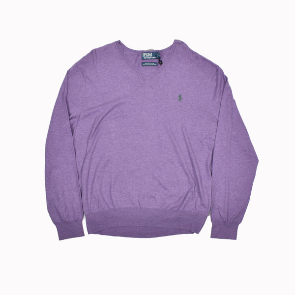 Polo Ralph Lauren V-Neck Sweater 0187438FZ-WH - Georgios Clothing Store