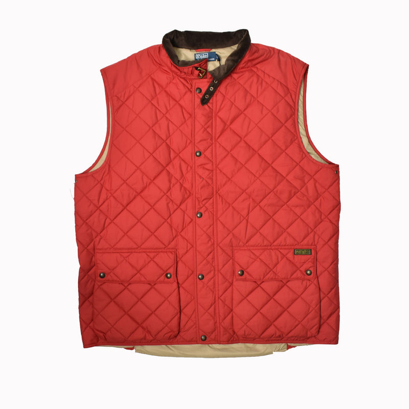 Polo Ralph Lauren Big & Tall Quilted Vest 72907879EVVV-WH - Georgios Clothing Store