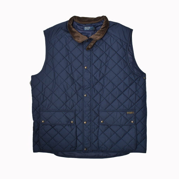 Polo Ralph Lauren Big & Tall Quilted Vest 72908877EVVV-WH - Georgios Clothing Store