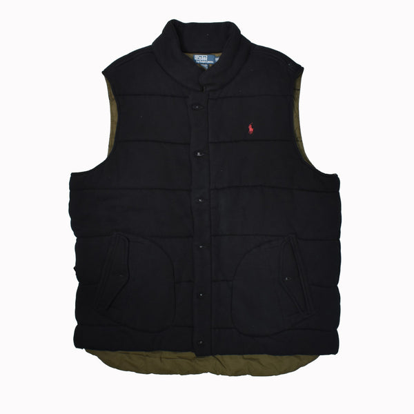 Polo Ralph Lauren Big & Tall Fleece Vest 0487218BT-WH - Georgios Clothing Store