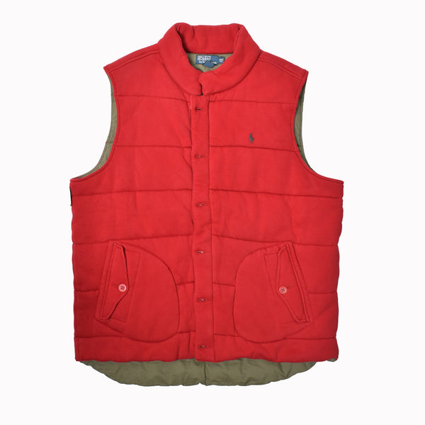 Polo Ralph Lauren Big & Tall Fleece Vest 0487219BT-WH - Georgios Clothing Store