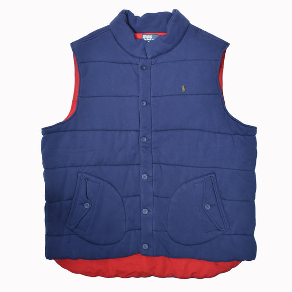 Polo Ralph Lauren Big & Tall Fleece Vest 0487220BT-WH - Georgios Clothing Store