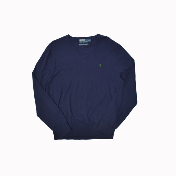 Polo Ralph Lauren V-Neck Sweater 0113624FZ-WH - Georgios Clothing Store