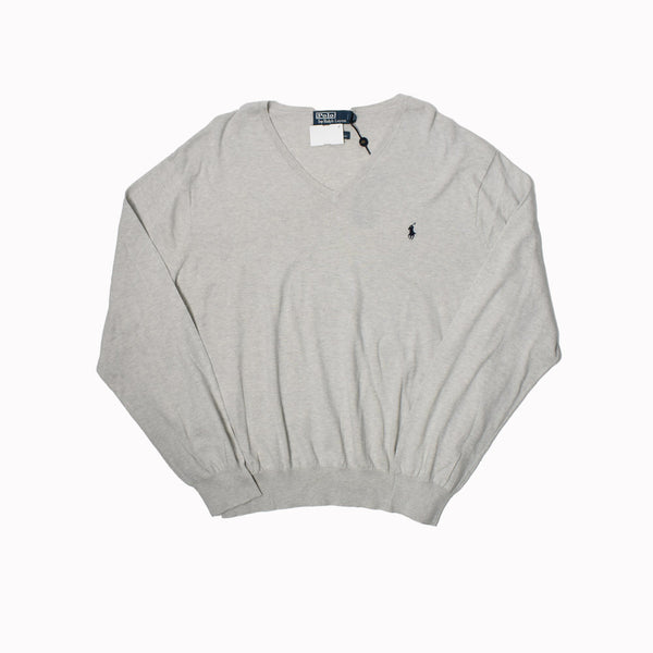 Polo Ralph Lauren V-Neck Sweater 0186377FZ-WH - Georgios Clothing Store