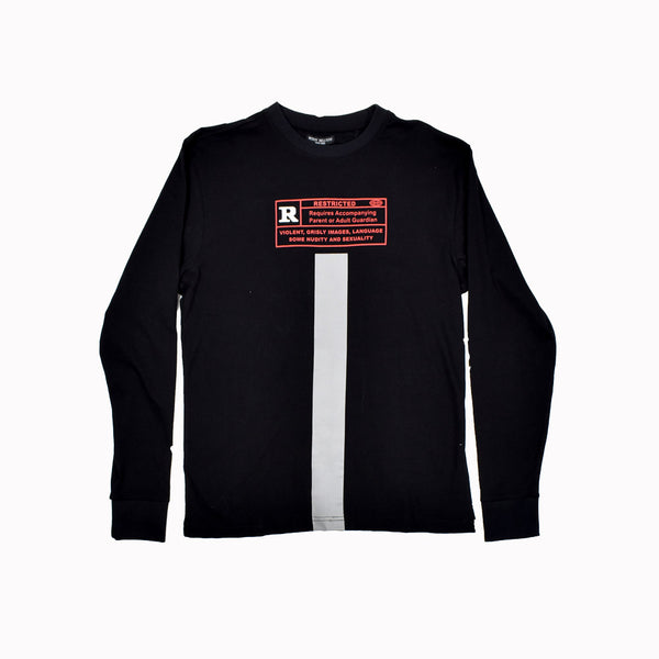 Mckoy Deluxxe Restricted Long Sleeve Graphic T-Shirt MCDXXLSTSR-WH - Georgios Clothing Store
