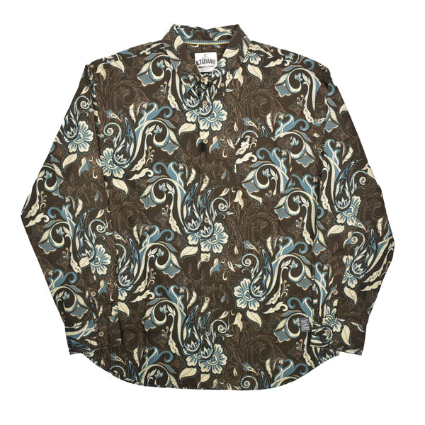 A. Tiziano Paisley Print Button Down Shirt 51AT3008-WH - Georgios Clothing Store