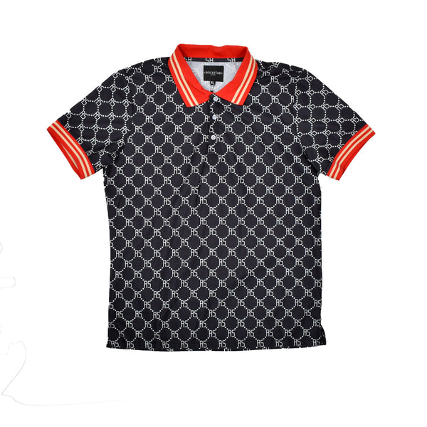 Rockstar Monogram Polo Shirt RSM2535ROB-WH - Georgios Clothing Store