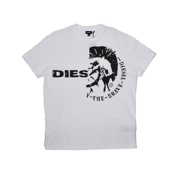 Diesel Graphic T-Shirt 00SW200JAIL-WH - Georgios Clothing Store