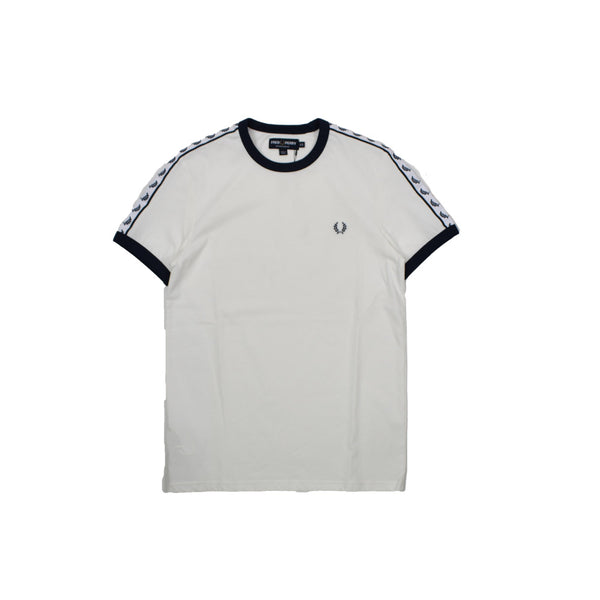 Fred Perry Taped Ringer T-Shirt M6347 -WH - Georgios Clothing Store