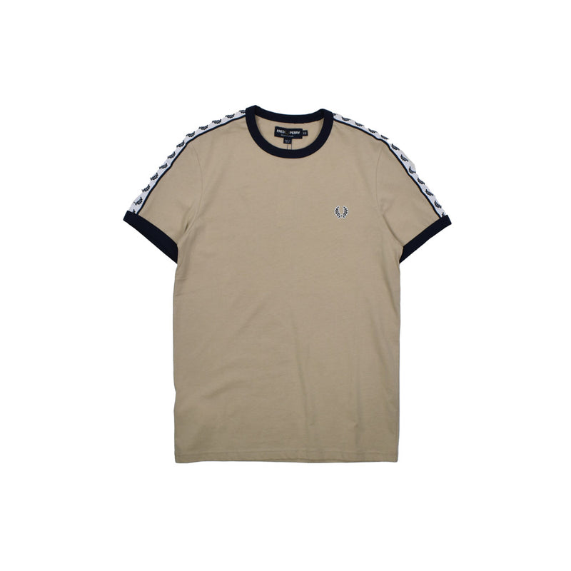Fred Perry Taped Ringer T-Shirt M6347 -WH