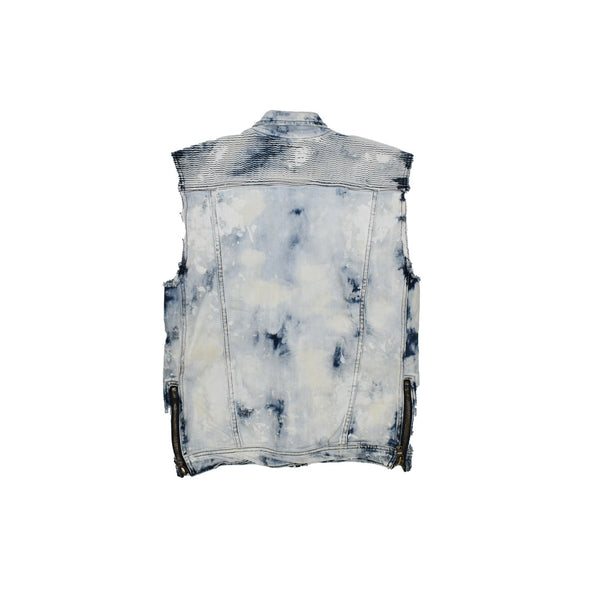 Rockstar Acid Wash Denim Vest RSM309ORT-WH