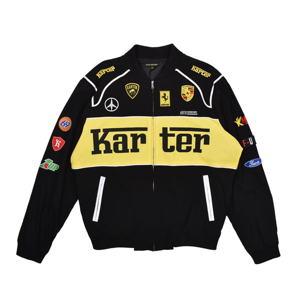 Karter Collection Motorsport Jacket KRTRH118-15 -WH - Georgios Clothing Store