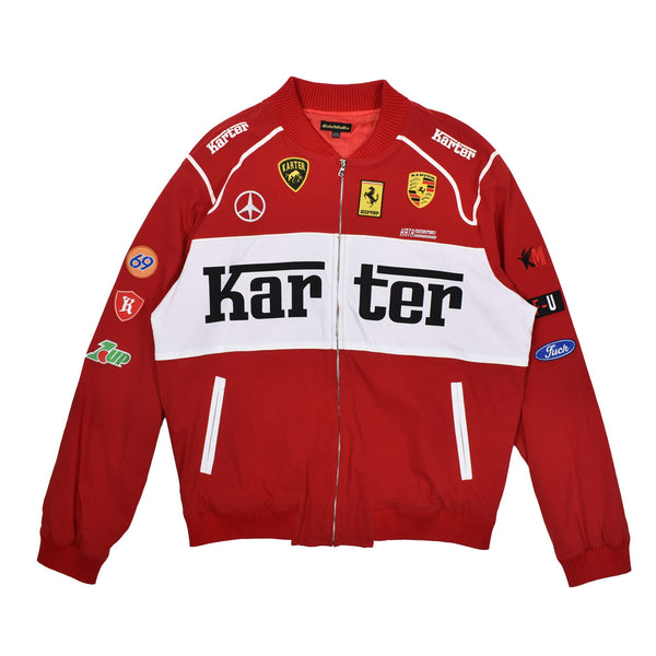 Karter Collection Motorsport Jacket KRTRH118-16 -WH - Georgios Clothing Store