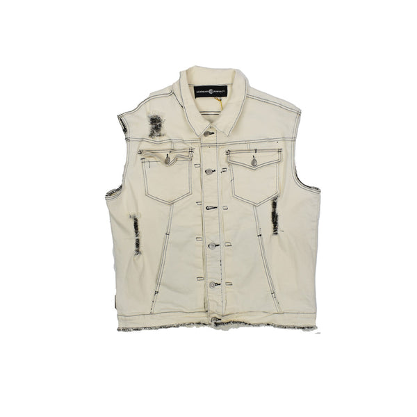 Rawyalty Denim Vest RJV-7 -WH