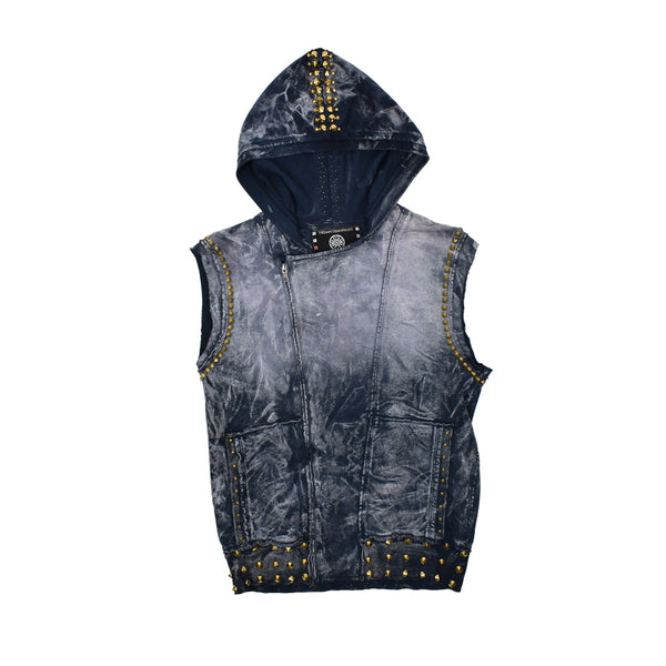 The Saint's Symphony Hooded Vest -WH - Georgios Clothing Store