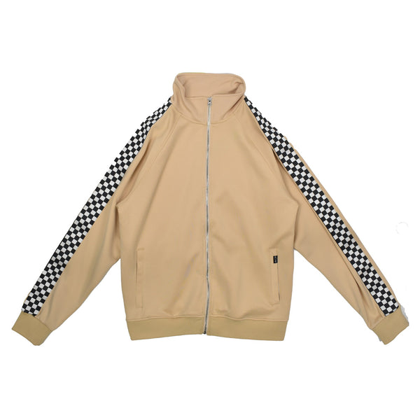 Eternity Checkered Stripe Track Jacket E6130041 -WH