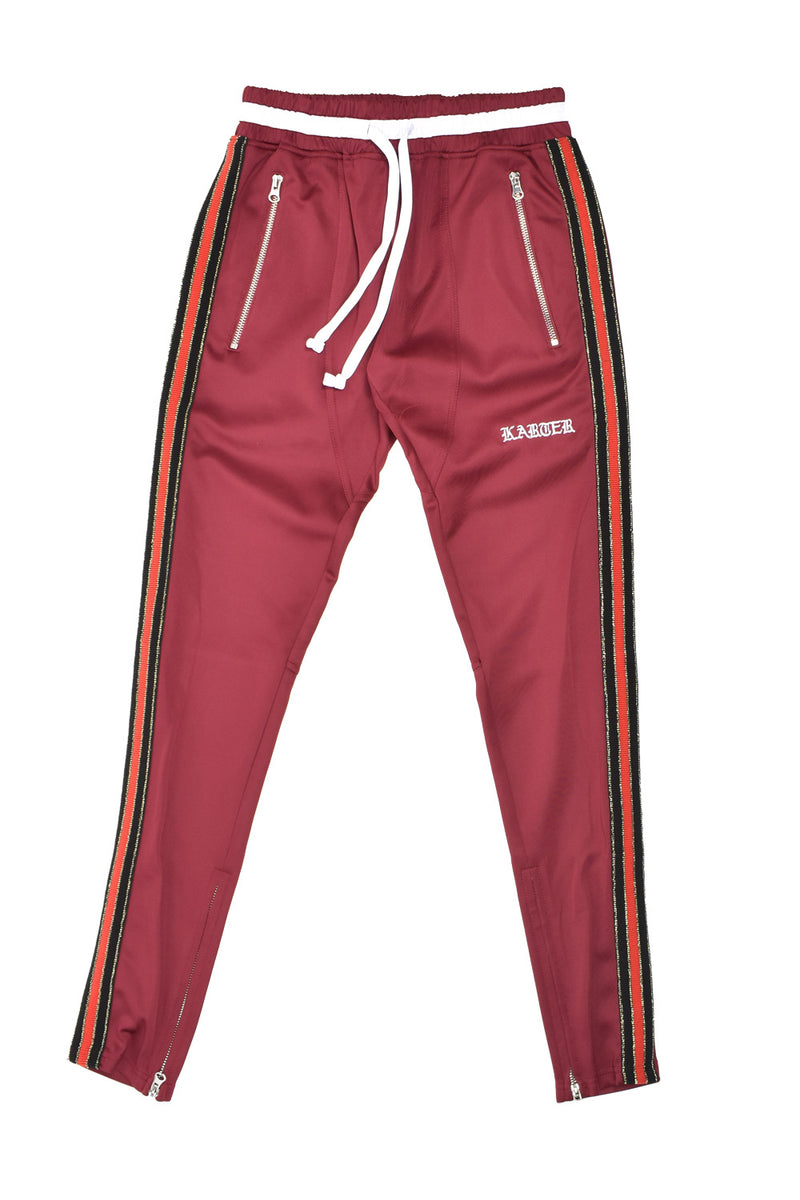 Karter Collection Mosley Track Pants KQSB17-A3-10 -WH - Georgios Clothing Store