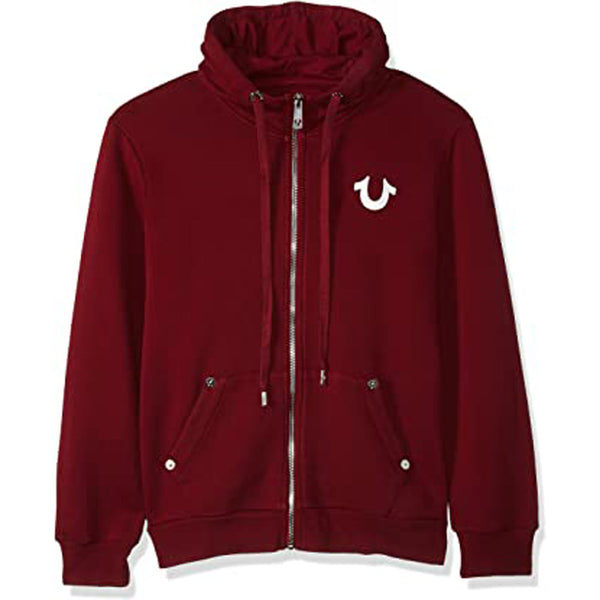 True Religion Core Zip Up Hoodie MSMBY4CN7 -WH - Georgios Clothing Store