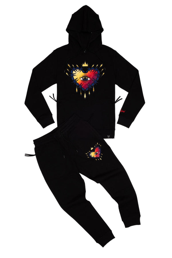 Civilized GRADIENT HEART HOODIE JOGGER SET (CV2206-2221) - Georgios Clothing Store