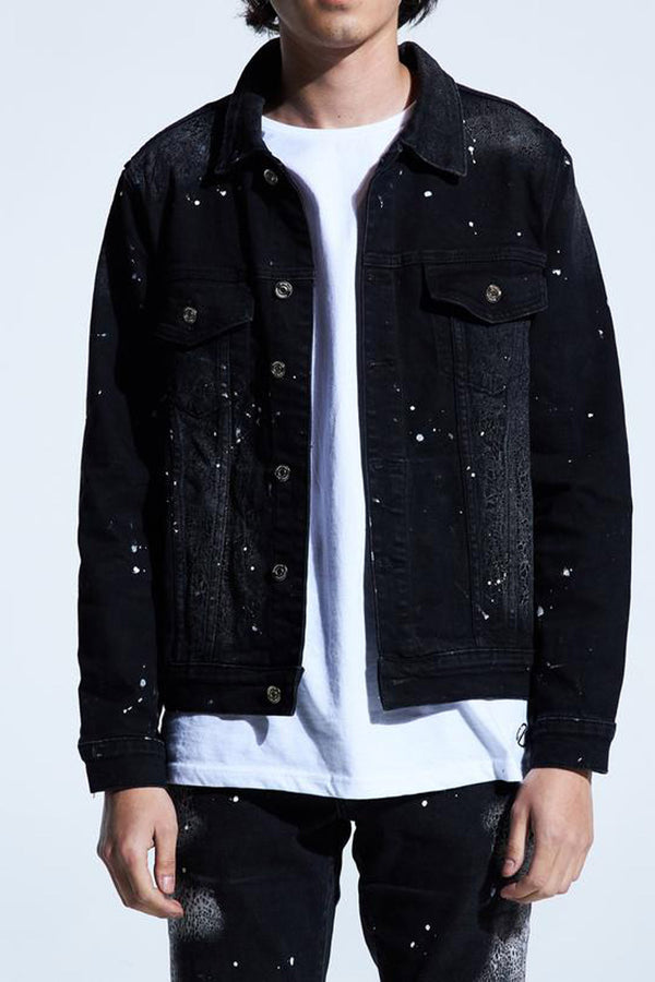 Embellish Quaker Denim Jacket EMBSP219-206 -WH