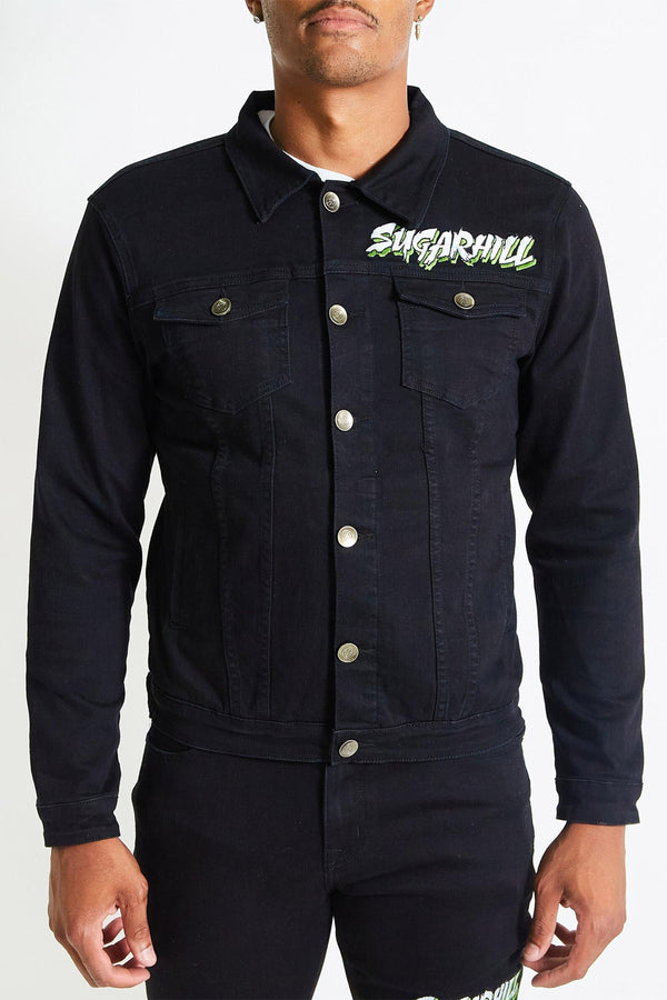 Sugarhill Hell On Earth Denim Jacket SH-FALL2-11 - Georgios Clothing Store