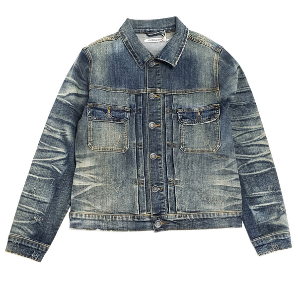 Embellish Alisha Denim Jacket EMBH218-25 -WH - Georgios Clothing Store
