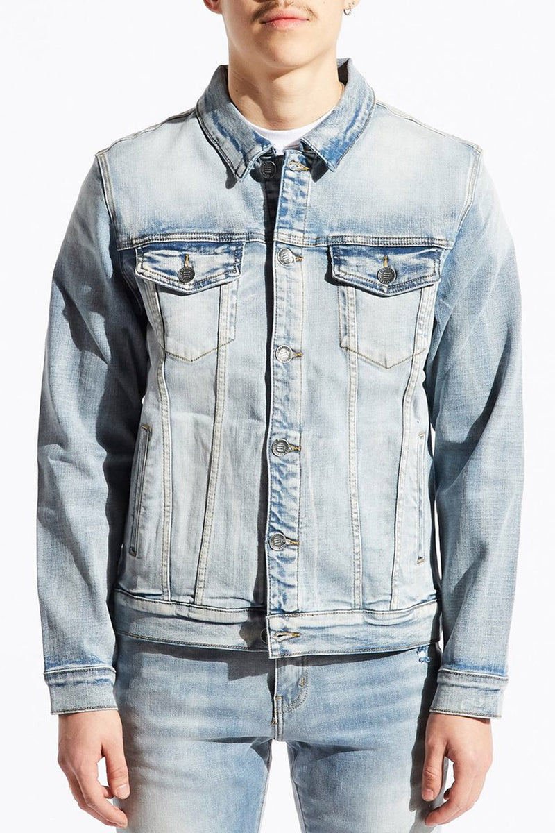 Embellish Erwin Jean Jacket EMBH218-17 -WH - Georgios Clothing Store