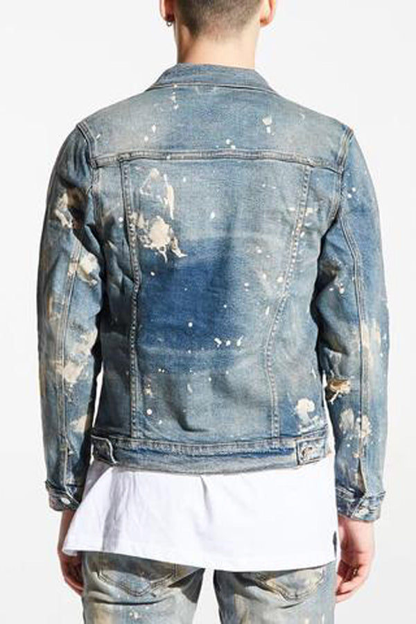 Embellish Denim Jean Jacket EMBSP119-205 -WH - Georgios Clothing Store