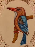 KingFisher Bird on Synthetic Faux Ivory Nature Lover