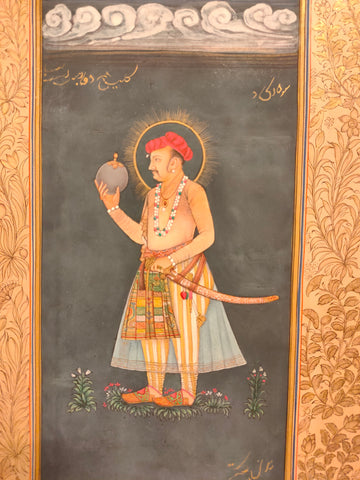 Mughal Portrait Indian Miniature Painting