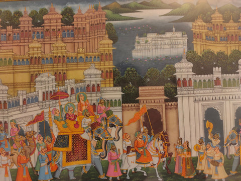 Udaipur City India Painting Art