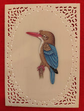 Load image into Gallery viewer, Baby KingFisher on Synthetic Ivory Art Collection - ArtUdaipur