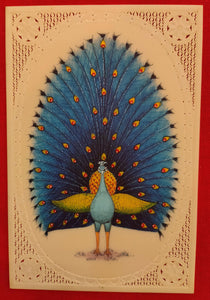 Hand Painted Peacock Bird Birds Miniature Painting India Art - ArtUdaipur