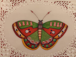 Exotic Butterfly Bird on Synthetic Ivory Painting Art - ArtUdaipur