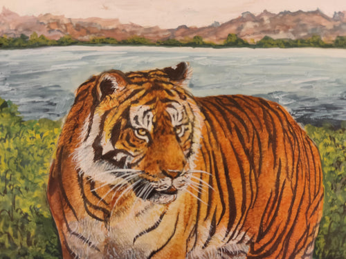 Tiger Animal Painting Home Decor Interior