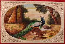 Load image into Gallery viewer, Hand Painted Peacock Bird Animal Miniature Painting India Art Wild - ArtUdaipur