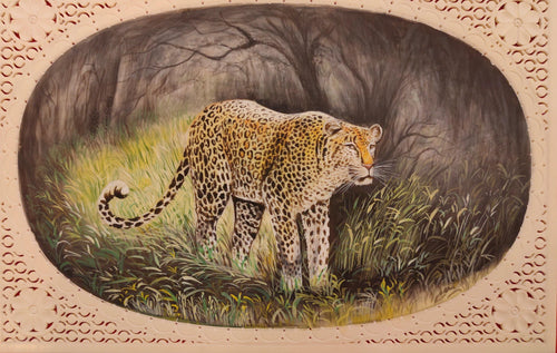 Panther Animal Painting Art Collection Interior