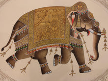 Load image into Gallery viewer, Hand Painted Tiger Animal Miniature Painting India Art Faux Synthetic Ivory - ArtUdaipur