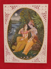 Load image into Gallery viewer, HandPainted Miniature Hare Krishna Radha Painting Art Work Fine Mewar - ArtUdaipur