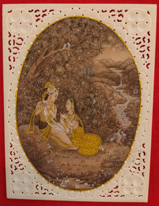 Famous Romantic Painting A Tale of Love Story Radha Krishna India - ArtUdaipur