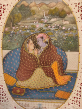 Load image into Gallery viewer, Krishna Radha Romance Hindu God Painting Artwork