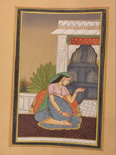 Load image into Gallery viewer, Handmade Indian Miniature Ragini Painting Paper Colors Art Traditional Exquisite - ArtUdaipur