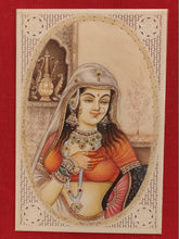 Load image into Gallery viewer, Handmade Indian Miniature Ragini Painting Synthetic Ivory Colors Traditional - ArtUdaipur